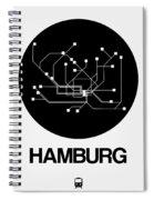Hamburg Black Subway Map Spiral Notebook