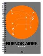 Hamburg Orange Subway Map Spiral Notebook