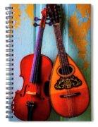 Hanging Violin And Mandolin Spiral Notebook