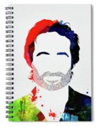 Hank Moody Watercolor Spiral Notebook