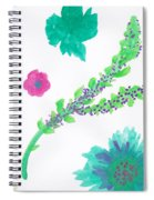 Happy Flower - Pintoresco Art By Sylvia Spiral Notebook