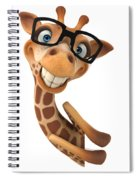 Happy Giraffe Spiral Notebook