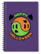 Happy Halloween Ghost Yin-yang Spiral Notebook