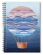 Happy Hot Air Balloon Watercolor Xxvi Spiral Notebook