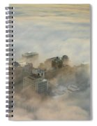 Harborview In The Clouds Spiral Notebook