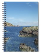 harbour entrance at St. Abbs, Berwickshire Spiral Notebook