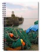 harbour pier and fishings nets at Pittenweem, Fife Spiral Notebook