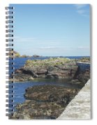 harbour wall and cliffs at St. Abbs, Berwickshire Spiral Notebook