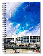 Hard Rock Beach Abstract Spiral Notebook