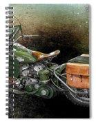 Harley Davidson 1942 Experimental Army Spiral Notebook