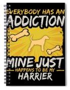 Harrier Funny Dog Addiction Spiral Notebook