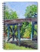 Harrison Park Bridge-ellijay River - Sun Peeking Under Spiral Notebook