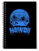 Hawaii Sunset Beach Vacation Paradise Island Blue Spiral Notebook