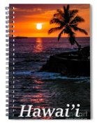 Hawaiian Sunset Spiral Notebook