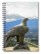 Hawk Overseeing Village. Spiral Notebook