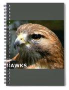 Hawks Mascot 2 Spiral Notebook