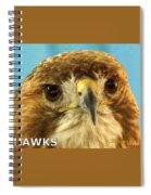 Hawks Mascot 4 Spiral Notebook