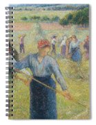 Haymaking At Eragny, 1891 Spiral Notebook