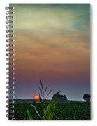 Hazy Summer Sunset Spiral Notebook