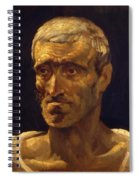 Head Of A Shipwrecked Man Study For The Raft Of Medusa 1819 Spiral Notebook