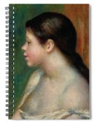 Head Of A Young Girl, 1882 Spiral Notebook