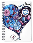 Heart Racing A Mad Shredder Biking Cycling Painting By Megan Duncanson Spiral Notebook