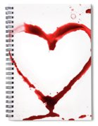 Heart Shape From Splaches And Blobs Spiral Notebook