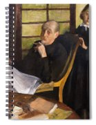 Henri Degas And His Niece Lucie Degas Spiral Notebook