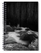 Hepokongas Waterfall Bw Spiral Notebook