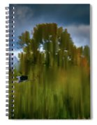 Heron Flying Abstract #h9 Spiral Notebook