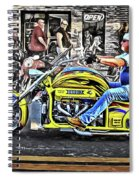 His Brodix Yellow Spiral Notebook