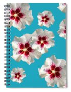 Hibiscus Flower Pattern Spiral Notebook