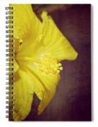 Hibiscus Yellow Spiral Notebook