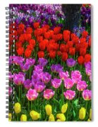 Hidden Garden Of Beautiful Tulips Spiral Notebook