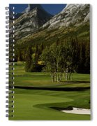 High Angle View Of A Golf Course, Mt Spiral Notebook