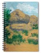 High Desert Rock Garden Spiral Notebook
