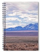 High Plains And Majestic Mountains Spiral Notebook