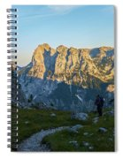 Hiker In The Morning Spiral Notebook