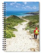 Hiking To Sandfly Bay New Zealand Spiral Notebook