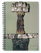 Hilt Of A Viking Sword Found At Hedeby, Denmark, 9th Century Spiral Notebook