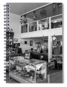 Hindsman General Store - Allensworth State Park - Black And White Spiral Notebook