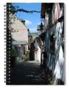 historic cobbled lane in Beilstein Germany Spiral Notebook