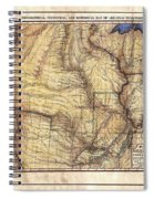 Historical Map Hand Painted Arkansaws Territory Spiral Notebook