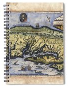 Historical Map Hand Painted Drake Virginia Spiral Notebook
