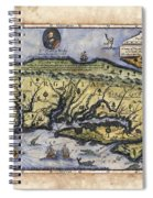 Historical Map Hand Painted Italy Vintage Spiral Notebook