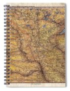 Historical Map Hand Painted Lake Superior North Dakota Minnesota Spiral Notebook