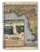Historical Map Hand Painted St. Augustine Spiral Notebook