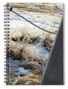 Hoar Frost On A Fence Along Turnagain Arm On The Seward Highway Alaska Spiral Notebook