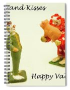 Hogs And Kisses Clown Valentines Spiral Notebook