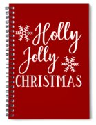Holly Jolly Christmas Spiral Notebook